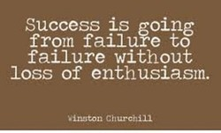 Success is going 