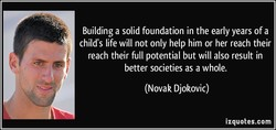 Building a solid foundation in the early years of a 