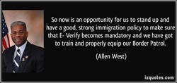 So now is an opportunity for us to stand up and 