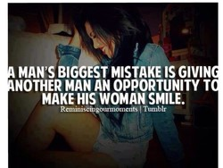 MAN'S BIGGESt MISTAKE IS GIVIN 