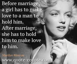 Before marriage, 