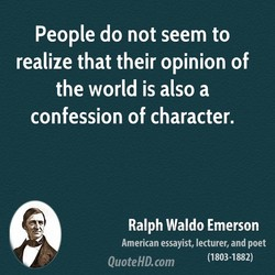 People do not seem to 