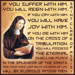 IF SUFFER WITH HIM. s VOU REIGN WITH HIM. IF 'r'OU CR'T' WITH HIM. N VOU HRVE c -JOY WITH HIM. IF DIE WITH HIM N THE CROSS OF E TRISUI-RTION. o YOU POSSESS THE ETERNRI.- R s DWEI.-UNF PI-RCE s IN THE SPLENDOR OF THE SAINTS. FIND VOUR NAME. WRITTEN IN THE OF UFE. s EE Fl.-ORIOUS HMONF MEN. I