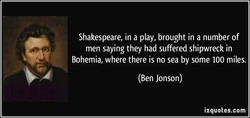 Shakespeare, in a play, brought in a number of 