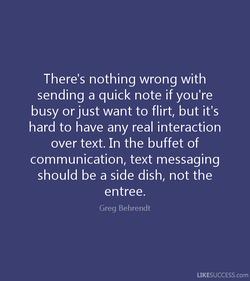 There's nothing wrong with 
