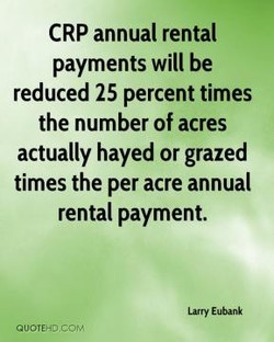 CRP annual rental 