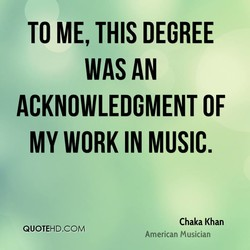 TO ME, THIS DEGREE 