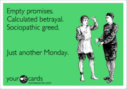 Empty promises. 