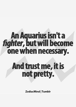 An Aquarius isn't a 