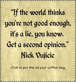'If the world thinks 