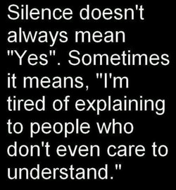 Silence doesn't 