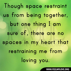 Though space restraint 