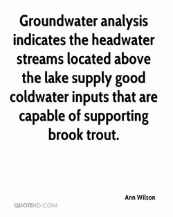 Groundwater analysis 