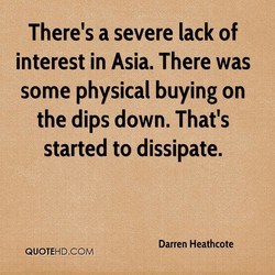 There's a severe lack of 