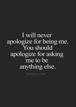 I will never 
