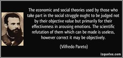 The economic and social theories used by those who 