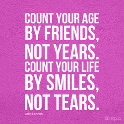 COUNT YOUR AGE 