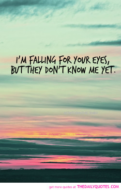 I'M FALLIN4 FOR YoUR EYES/ 