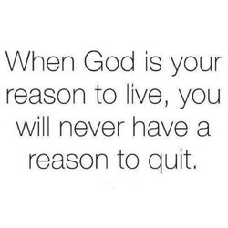 When God is your 