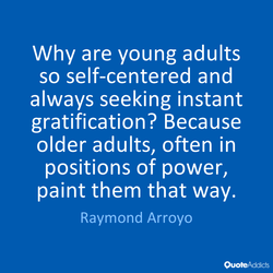 Why are young adults 