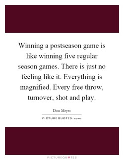 Winning a postseason game is 
