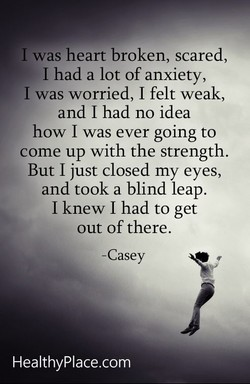 I was heart broken, scared, 