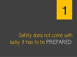 Safety does not come with 