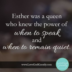 Esther was a queen 