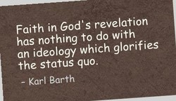 Faith in God's revelation 