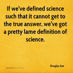 If we've defined science 