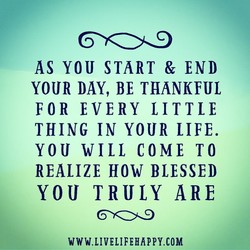 AS YOU START & END 