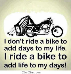 I don't ride a bike to 
