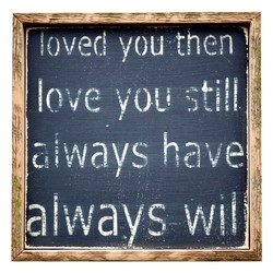loved you then)} 