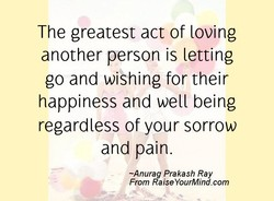 The greatest act of loving 