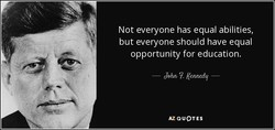 Not everyone has equal abilities, 