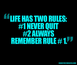 TWO RULES: 