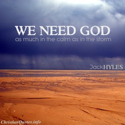 WE NEED GOD 