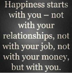 Happiness starts
