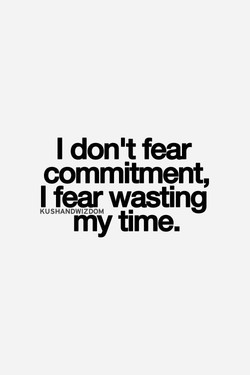 I don't fear 