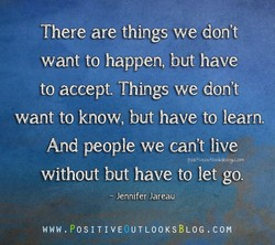 There are things we don't 