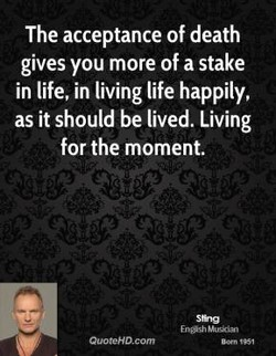 The acceptance of death 