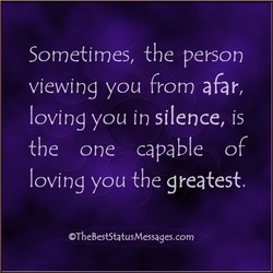 Sometimes, the person 