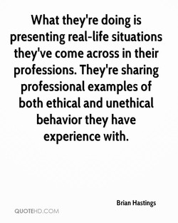 What they're doing is 