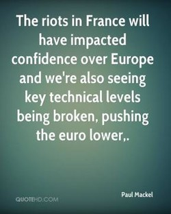 The riots in France will 