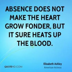 ABSENCE DOES NOT 