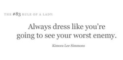 Till'. #83 RULE OF A LADY: 