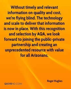 Without timely and relevant 