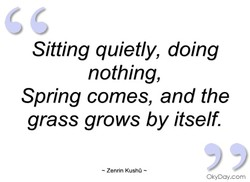 Sitting quietly, doing 