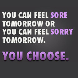 YOU CAN FEEL SORE 