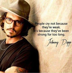 eople cry not because 
